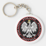 Round Polish Eagle Key Chain