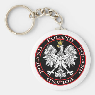 Round Polish Eagle Keychain
