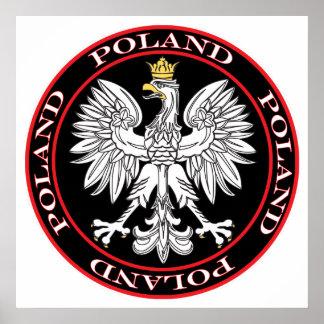 Round Polish Eagle Poster
