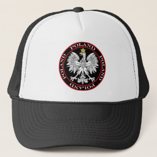 Round Polish Eagle Trucker Hat