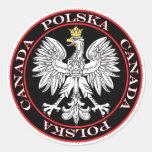 Round Polska Canada Eagle Classic Round Sticker