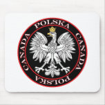 Round Polska Canada Eagle Mouse Pad
