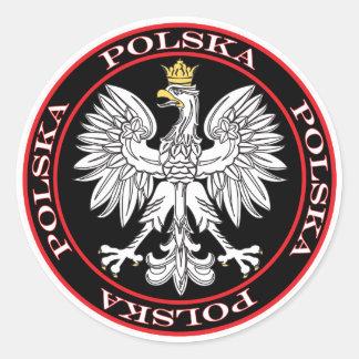 Round Polska Eagle Classic Round Sticker