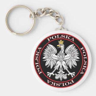 Round Polska Eagle Keychain