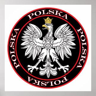 Round Polska Eagle Poster
