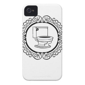round potty label Case-Mate iPhone 4 case