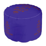 [Crown] keep calm and eat ice-cream  Round Pouf