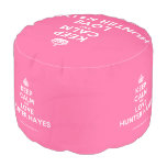 [Crown] keep calm and love hunter hayes  Round Pouf