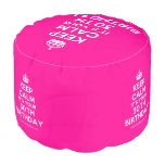 [Crown] keep calm it's your 30th birthday  Round Pouf