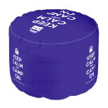 [Campervan] keep calm and camp on  Round Pouf