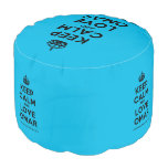 [Crown] keep calm and love omar  Round Pouf