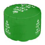 [Crown] keep calm and be a turtle  Round Pouf
