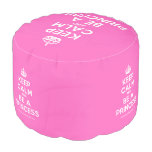 [Crown] keep calm and be a princess  Round Pouf
