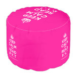 [Crown] keep calm and read p.y.t  Round Pouf