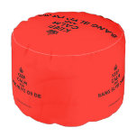 [Crown] keep calm and bang blvd or die  Round Pouf