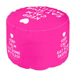 [Love heart] keep calm and eat some skittles!  Round Pouf