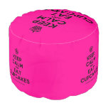 [Cupcake] keep calm and eat cupcakes  Round Pouf