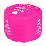 [Love heart] keep calm and i love my body  Round Pouf