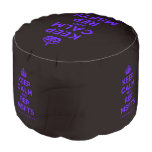 [Crown] keep calm and rep msfts  Round Pouf