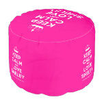 [Knitting crown] keep calm and love shelby  Round Pouf