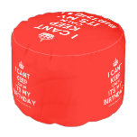 [Crown] i cant keep calm its my birthday  Round Pouf