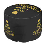 [Love heart] keep calm and confess to your crush  Round Pouf