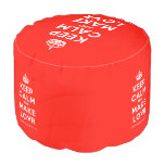 [Crown] keep calm and make lovr  Round Pouf