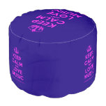 [Dancing crown] keep calm and love music  Round Pouf