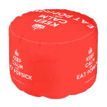 [Crown] keep calm and eat popsick  Round Pouf
