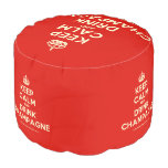 [Crown] keep calm and drink champagne  Round Pouf