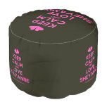 [Two hearts] keep calm and love sheyanne  Round Pouf