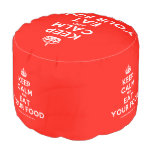 [Crown] keep calm and eat your food  Round Pouf