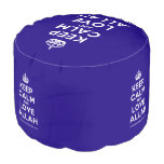 [Crown] keep calm and love allah  Round Pouf