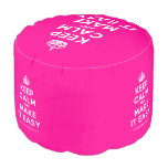 [Crown] keep calm and make it easy  Round Pouf