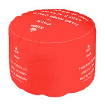 [Crown] keep calm and take more calls, less e actions and be on ready  Round Pouf