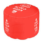 [Campervan] keep calm and chill out  Round Pouf