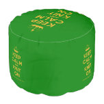 [Knitting crown] keep calm and knit on  Round Pouf