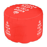 [Crown] keep calm and love robbie  Round Pouf