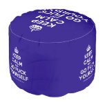 [Crown] keep calm and go fuck yourself  Round Pouf
