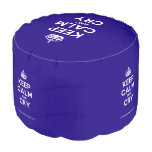 [Crown] keep calm and cry  Round Pouf