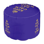 [Crown] keep calm and eat wings  Round Pouf