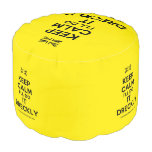 [UK Flag] keep calm i'll do it dreckly  Round Pouf