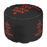 [Campfire] keep calm and eat shaorma  Round Pouf
