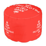 [Crown] keep calm and pillow fight on  Round Pouf