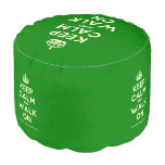 [Crown] keep calm and walk on  Round Pouf