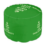 [Crown] keep calm and love duck dynasty  Round Pouf