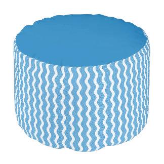 Round Pouf blue