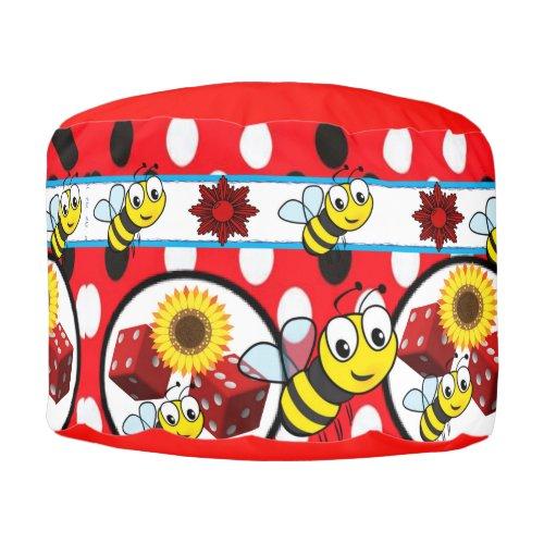 Round Pouf Bumblebee