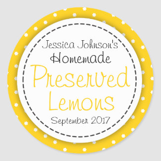 Round Preserved Lemons jam jar food label
