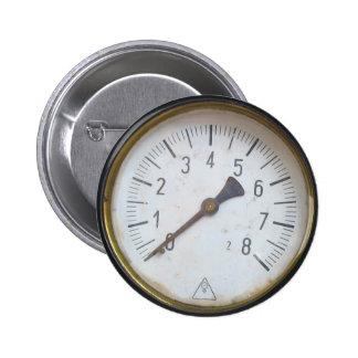 Round Pressure Gauge Meter Dial Button